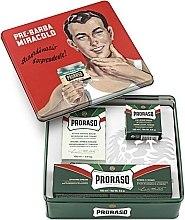 "Profumi e cosmetici Set - Proraso Classic Shaving Metal Green ""Gino"" (pre/cr/100ml + sh/cr/150ml + ash/cr/100ml)"