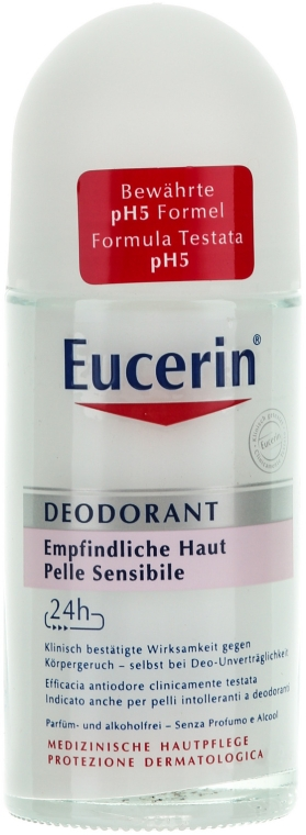 Deodorante roll-on - Eucerin Deodorant Empfindliche Haut 24h roll-on