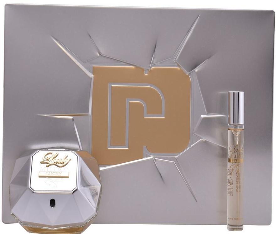 Paco Rabanne Lady Million Lucky - Set (edp/80ml + edp/10ml)