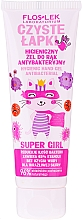 Profumi e cosmetici Gel antibatterico per mani - Floslek Super Girl Hygienic Antibacterial Hand Gel