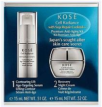Profumi e cosmetici Set - KOSE Soja Repair Cocktail Cell Radiance Premium Anti-Aging Kit (serum/15ml+nihgt/cr/15ml)