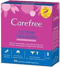 Profumi e cosmetici Assorbenti igienici quotidiani, flessibile 56 pezzi - Carefree Cotton FlexiForm