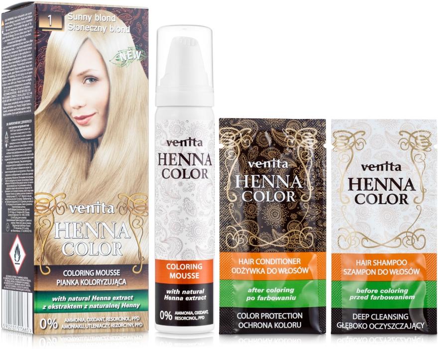Mousse colorante all'hennè - Venita Henna Color Coloring Mousse