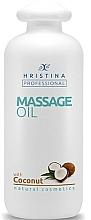 Profumi e cosmetici Olio da massaggio al cocco - Hristina Professional Coconut Massage Oil