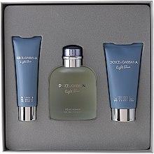 Profumi e cosmetici Dolce & Gabbana Light Blue pour Homme - Set (edt 125 + sh/g 50 + a/sh balm 75)