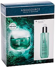 Profumi e cosmetici Set - Biotherm Aquasource (f/cr/50ml + clean/milk/200ml)