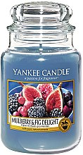 "Profumi e cosmetici Candela profumata in vetro ""Gelso e fichi"" - Yankee Candle Mulberry and Fig Delight"