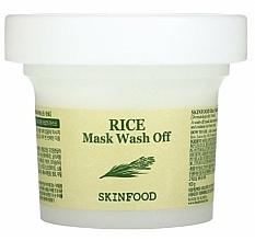 Profumi e cosmetici Maschera purificante con estratto di riso - Skinfood Rice Mask Wash Off