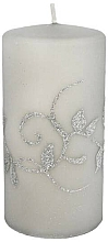 Profumi e cosmetici Candela decorativa, grigia, 7x14cm, cilindro - Artman Amelia Candle