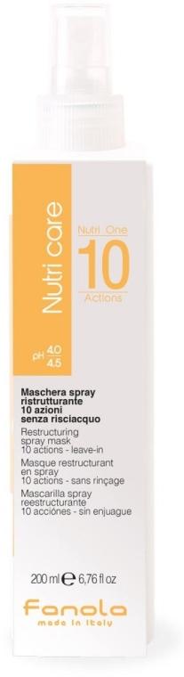 Maschera spray per capelli - Fanola Nutri Care Restructuring Spray Mask