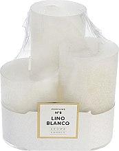 Profumi e cosmetici Set candele profumate - Artman Glass Classic Perfume №8 Lino Blanco Candle (candle/3pc)