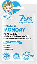 """Profumi e cosmetici Maschera viso rinfrescante con estratti di salice e fave di cacao """"Dynamic Monday"""" - 7 Days Dynamic Monday"""