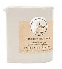 """Profumi e cosmetici Candela da massaggio """"Cocco nutriente"""" - Flagolie Coconut Nutrition Massage Candle"""