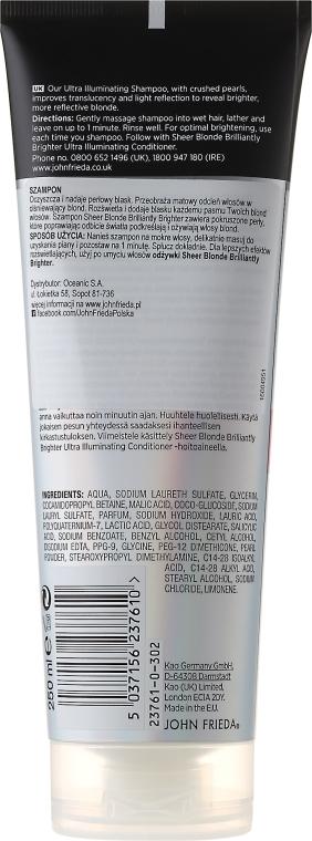Shampoo per lucidare capelli biondi - John Frieda Sheer Blonde Brilliantly Brighter Shampoo — foto N3