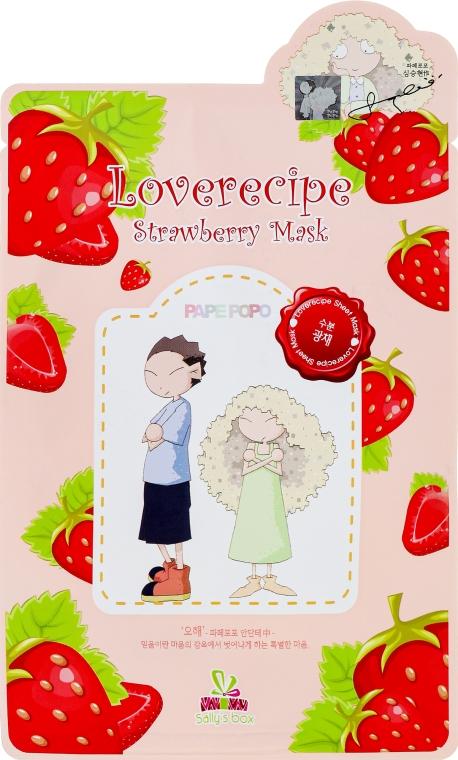 Maschera in tessuto con estratto di fragola - Sally's Box Loverecipe Strawberry Mask