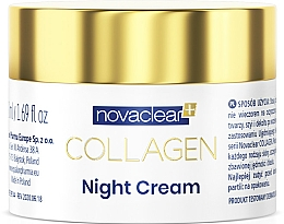 Profumi e cosmetici Crema viso da notte al collagene - Novaclear Collagen Night Cream