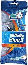 Profumi e cosmetici Set di rasoi usa e getta per rasatura, 5pcs - Gillette Blue II Plus