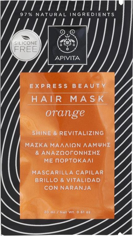 Maschera rigenerante all'arancia - Apivita Shine & Revitalizing Hair Mask With Orange