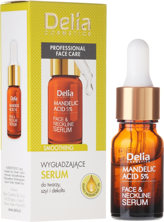Siero viso, collo e decollete con acido di mandorle - Delia Mandelic Acid 5% Active Face & Neckline Serum