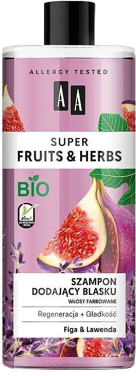 Gel doccia lenitivo per pelli sensibili - AA Super Fruits & Herbs Shampoo Fig & Lavender
