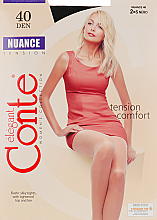 """Profumi e cosmetici Collant """"Nuance"""" 40 Den, nero - Conte"""