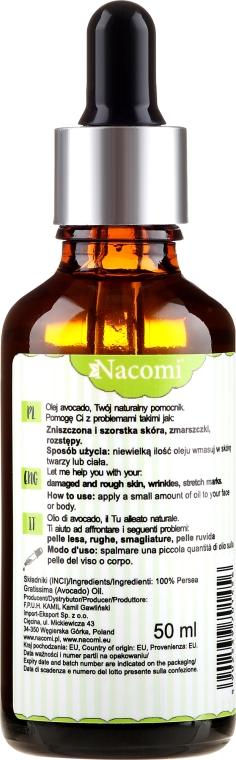 Olio di avocado, con pipetta - Nacomi Avocado Oil — foto N2