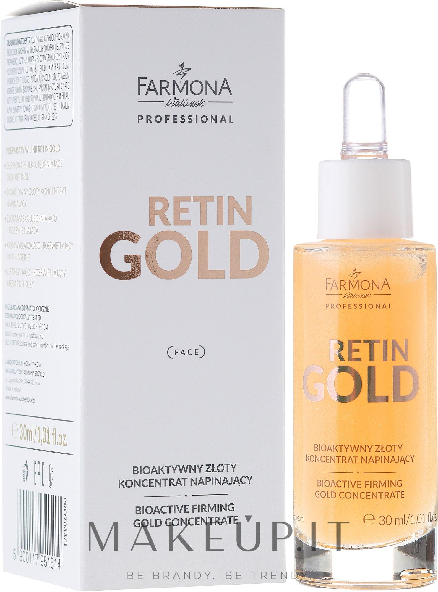 Concentrato viso bioattivo - Farmona Retin Gold Concentrate — foto 30 ml