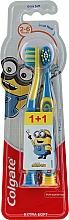 """Profumi e cosmetici Spazzolino da denti per bambini """"Smiles"""", 2-6 anni, giallo-blu, extra morbido - Colgate Smiles Kids Extra Soft"""