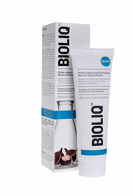 Crema lenitiva e rassodante per pelle con capillari dilatati - Bioliq Dermo Face Cream