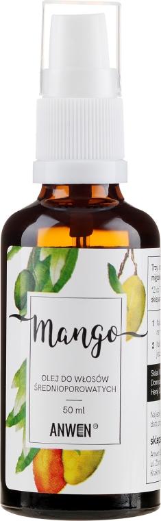 Olio capelli medio porosi - Anwen Mango Oil For Medium-Porous Hair (vetro)