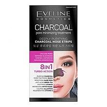 Profumi e cosmetici Strisce al carbone di legna per naso - Eveline Cosmetics Charcoal Nose Strips