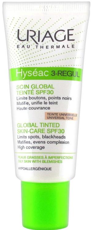 Crema viso anti-imperfezioni - Uriage Hyséac 3-Regul Global Tinted Skin-Care SPF 30