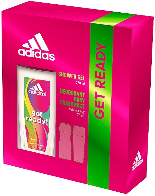 Adidas Get Ready! For Her - Set (deo/sp 75ml +sh/gel/250ml)
