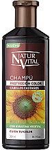 Profumi e cosmetici Shampoo per preservare il colore dei capelli tinti - Natur Vital Coloursafe Henna Colour Shampoo Chestnut Hair