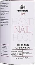 Profumi e cosmetici Olio per la cura delle mani - Alessandro International Balancing Hand Care Oil