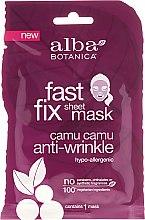 Profumi e cosmetici Maschera anti-età in tessuto - Alba Botanica Fast Fix Sheet Mask Camu Camu Anti-Wrinkle