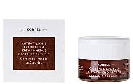 Profumi e cosmetici Crema antirughe protettiva giorno, con castagna - Korres Castanea Arcadia Antiwrinkle&Firming Day Cream For Dry and Very Dry Skin