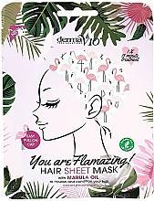 """Profumi e cosmetici Maschera per capelli con olio di marula """"Flamingo"""" - Derma V10 Flamingo Print Hair Mask With Marula Oil"""