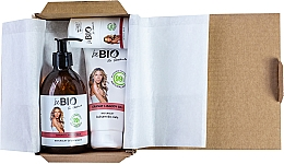 Profumi e cosmetici Set - BeBio Pomegranate And Goji Berries Set (sh/gel/400ml + b/lot/200ml + deo/roll-on/50ml)