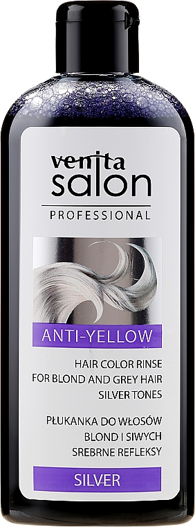 Balsamo colorante per capelli decolorati e grigi - Venita Salon Anty-Yellow Blond & Grey Hair Color Rinse Silver