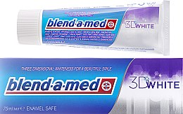 "Profumi e cosmetici Dentifricio ""Sbiancamento"" - Blend-a-med 3D White Toothpaste"