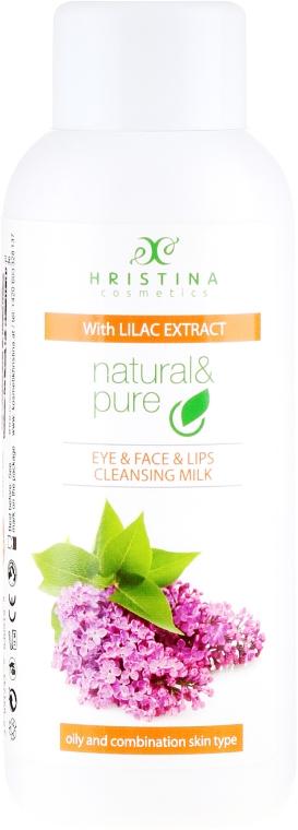 "Latte detergente per pelli miste e grasse ""Lilla"" - Hristina Cosmetics Cleansing Milk With Lilac Extract"
