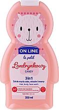 """Profumi e cosmetici Bagnodoccia per bambini """"Dolci"""" - On Line Le Petit Candy 3 In 1 Hair Body Face Wash"""