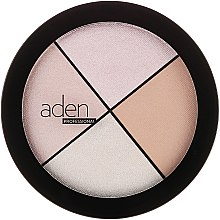Profumi e cosmetici Illuminante viso - Aden Cosmetics Highlighter Palette