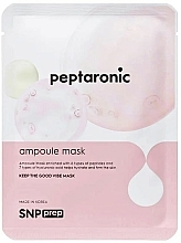 Profumi e cosmetici Maschera viso idratante al peptide - SNP Prep Peptaronic Ampoule Mask