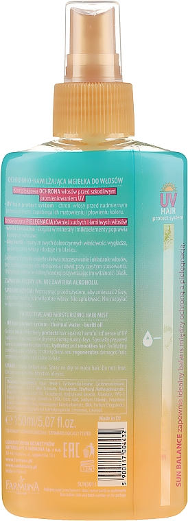 Spray capelli idratante - Farmona Sun Balance Hair Mist — foto N2