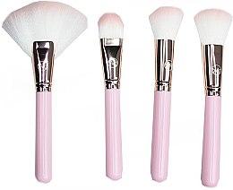 Profumi e cosmetici Set pennelli trucco, rosa, 4 pezzi - Contour Cosmetics