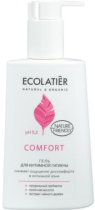 Gel per l'igiene intima con acido lattico e probiotici - Ecolatier Comfort