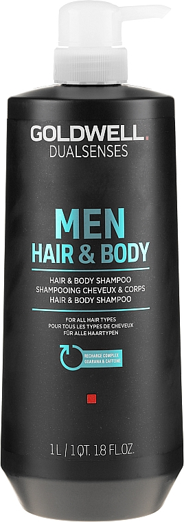 Shampoo rinfrescante per capelli e corpo - Goldwell DualSenses For Men Hair & Body Shampoo