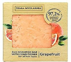"""Profumi e cosmetici Shampoo-condizionante solido """"Pompelmo"""" - Stara Mydlarnia Grapefruit 2in1 Shampoo Bar"""